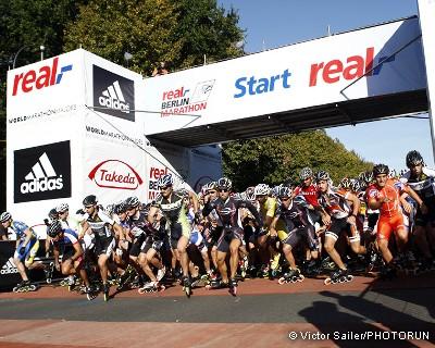 Maratonun inline paten branşı startı
